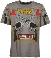 Dolce & Gabbana Grey Guns Printed T-shirt