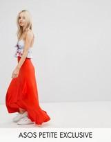 Asos Ruffle Wrap Maxi Skirt