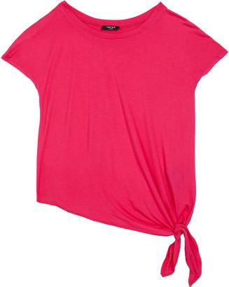 Terez Girl's Side-Tie Short-Sleeve Jersey Tee, Size 7-16