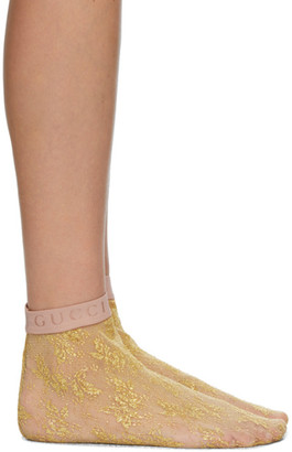 Gucci Gold Mini Flirt Socks