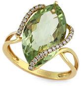 Effy 14K Gold 0.14 TCW Amethyst Ring