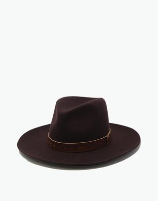Madewell WYETH Wool Felt Harper Wide-Brim Fedora Hat