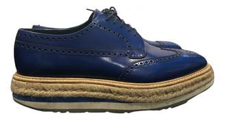 Prada Blue Leather Lace ups