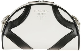 Prada Double Top Zip Shoulder Bag