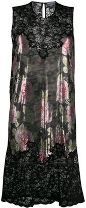 Paco Rabanne floral mesh midi dress