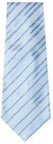 Chanel Vintage Blue Stripe Silk Jacquard Tie