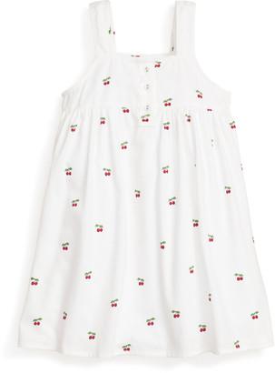 Petite Plume Girl's Charlotte Cherries Sleeveless Nightgown, Size 6M-14