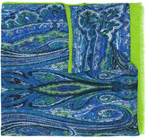 Etro fringed printed scarf - men - Cashmere/Modal - One Size