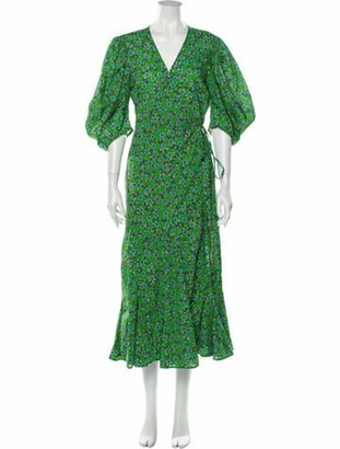 Rhode Resort Floral Print Long Dress Green Floral Print Long Dress