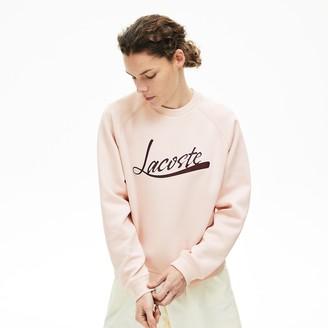Lacoste Womens Signature Print Crew Neck Sweatshirt