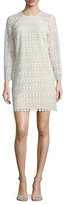 Shoshanna Embroidery Crewneck Short Dress