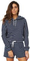 Swell Casta Stripe Pullover Hood Blue