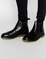 Red Tape Brogue Chelsea Boots - Black