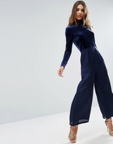 Asos Jumpsuit in Velvet and Satin