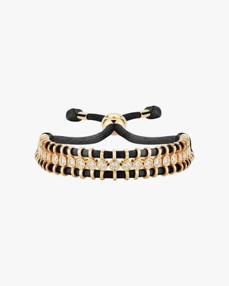 Jemma Wynne Cord Slider Black Diamond Bracelet