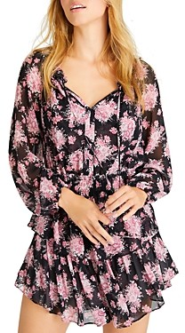 LoveShackFancy Silk Printed Popover Dress