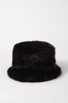 Emma Brewin - Cat Faux Fur Bucket Hat - Black
