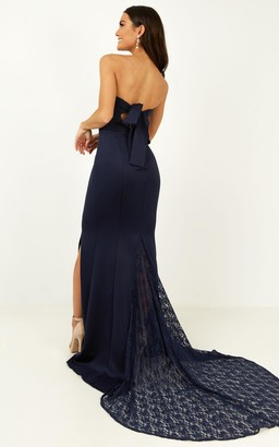 Showpo Always Will Love You Dress in navy - 8 (S) Bridesmaid