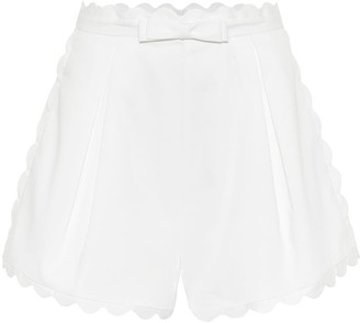Zimmermann Super Eight high-rise cotton shorts