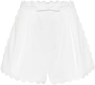 Zimmermann Super Eight high-rise cotton shorts