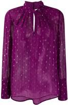 BA&SH paisley print long-sleeve blouse
