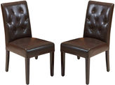 JCPenney Raymond Set of 2 Bonded Leather Parsons Dining Chairs