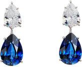 FANTASIA Double Pear-Cut CZ Crystal Drop Earrings