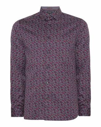 Ted Baker Thundar Small Floral Print Cotton Shirt
