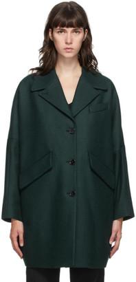MM6 MAISON MARGIELA Green Wool Oversized Coat