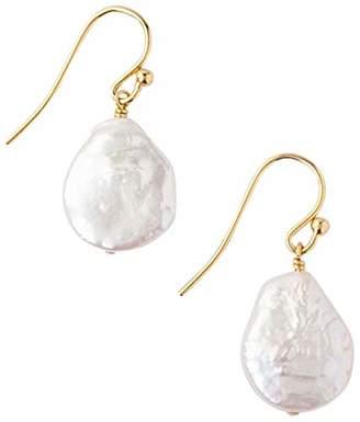 Chan Luu Freshwater Cultured Keshi Pearl 18K Gold Plated Earrings