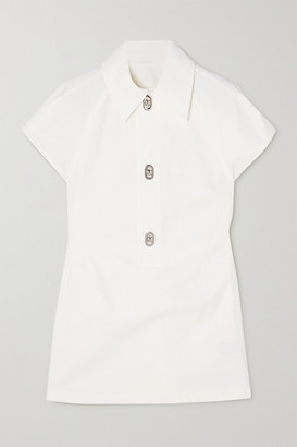 Bottega Veneta Cutout Cotton-poplin Top - White