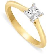 Aurora 18ct gold 0.40 carat princess cut diamond solitaire ring