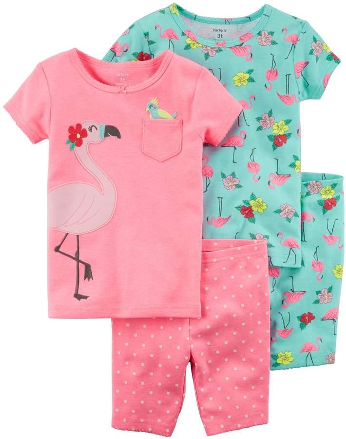 Carter's Girls 4-12 Tops & Shorts Pajama Set
