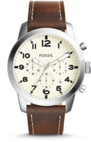 Fossil Pilot 54 Chronograph Dark Brown Watch