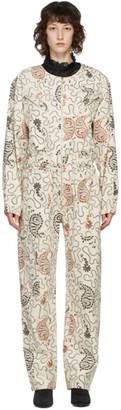 Etoile Isabel Marant Beige Printed Nilaney Jumpsuit