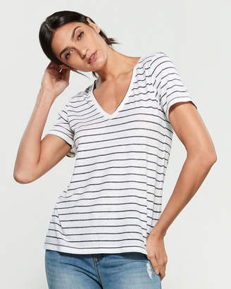 Lucky Brand Venice Stripe Burnout Tee