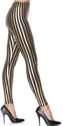 Underwraps Women's Gold Striped Leggings