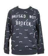 """Zoe Karssen """"bruised Not Broken"""" Caviar Sweatshirt"""