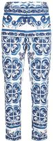 Dolce & Gabbana Majolica Print Trousers