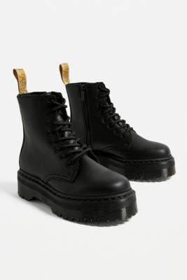 Dr. Martens Jadon Vegan Leather Platform 8-Eye Boot - black UK 5 at Urban Outfitters