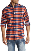 Psycho Bunny Plaid Flannel Trim Fit Shirt