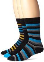 Ben Sherman Men's 3 Pack Winston Crew Socks, Royal, One Size