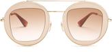 Gucci Round-frame metal aviator sunglasses