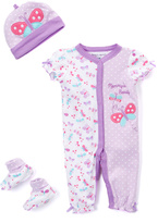 Buster Brown Purple 'Mommy's Beauty' Romper Set - Infant