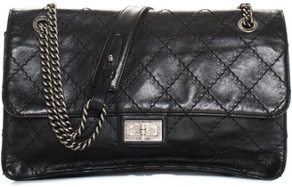 Chanel Black Quilted Leather Reissue Surpique Single Flap Bag