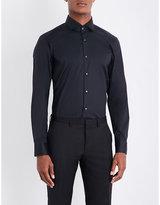 BOSS Slim-fit cotton-blend shirt