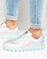 Wize & Ope Led Metallic Low Trainers