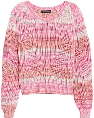 Banana Republic Petite Spacedye Cropped Sweater