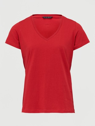 Very The Basic V Neck Tee - Red