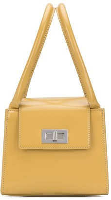 BY FAR Turn-Lock Structured Tote